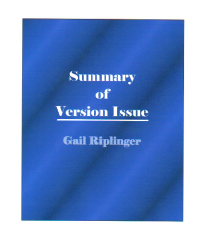 Summary of Bible Version Issue by Riplinger